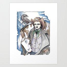 Edgar Allan Cowpoke Art Print