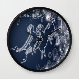 illustrations raindeer Wall Clock
