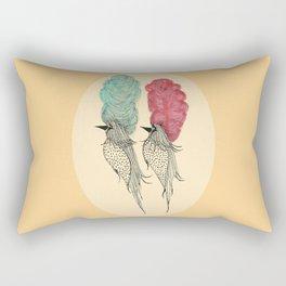 Bouffant Birds Rectangular Pillow