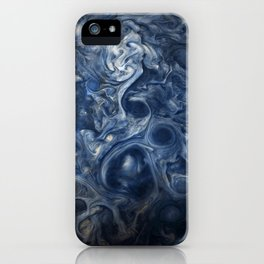 Swirling Blue Clouds of Planet Jupiter from Juno Cam iPhone Case
