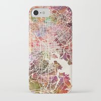 baltimore iPhone & iPod Cases featuring Baltimore map by MapMapMaps.Watercolors
