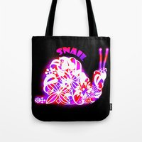 snail Tote Bags featuring Snail by VirgoSpice