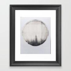empire state building polaroid Framed Art Print