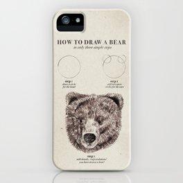 circle, circle, bear iPhone Case
