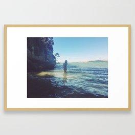 Wild Wonderer in Tomales Bay, Inverness California Framed Art Print