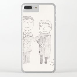 Stucky - Button up your overcoat Clear iPhone Case