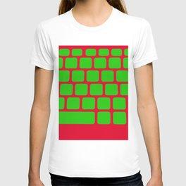 keyboard keys computer input pc T-shirt