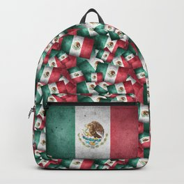 Grunge-Style Mexican Flag Backpack