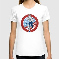 crossfit T-shirts featuring American Crossfit Runner Running Retro by patrimonio