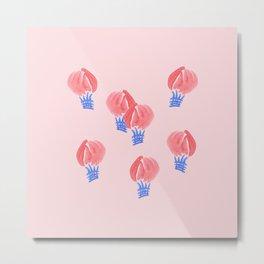 Air Balloons on Pale Pink Metal Print