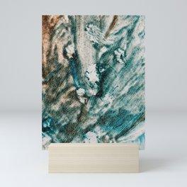 messy smears-Watercolor Mini Art Print