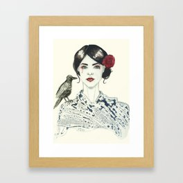 Rose's Raven Framed Art Print