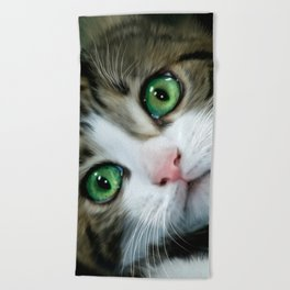 Kitty Cat Beach Towel