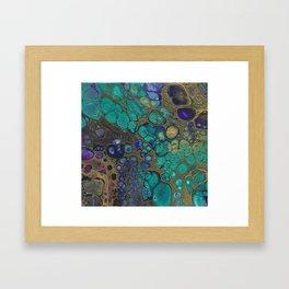 Golden Space Framed Art Print