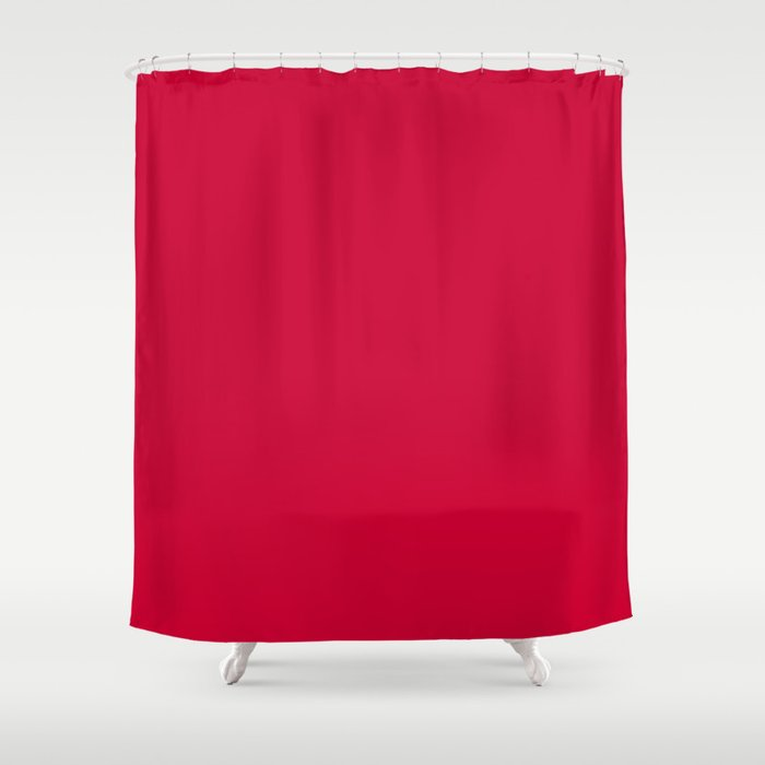 Curves In Yellow Royal Blue Tomato Red Shower Curtain