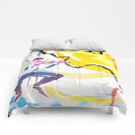 BACH Partita    No 1.               by Kay Lipton Comforters