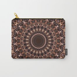 Brown and copper mandala Carry-All Pouch