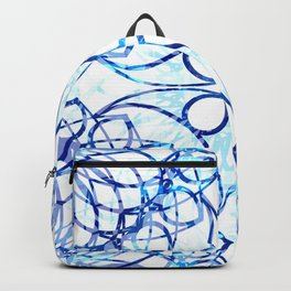 Blue Boho Chic Pattern Backpack