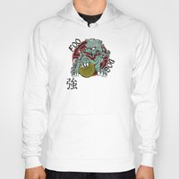 foo fighters Hoodies featuring Foo Dog by Buby87
