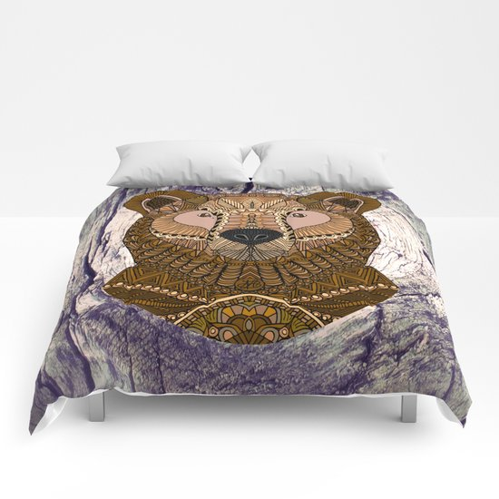 Ornate Brown Bear Comforters