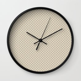 Blue & Beige Angled Grid Line Pattern Pairs To 2020 Color of the Year Chinese Porcelain PPG1160-6 Wall Clock
