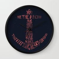 feet Wall Clocks featuring You be the anchor that keeps my feet on the ground... by Alejandro Giraldo