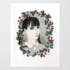 Raspberry Portrait Art Print