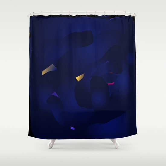Interstellar Storm Shower Curtain