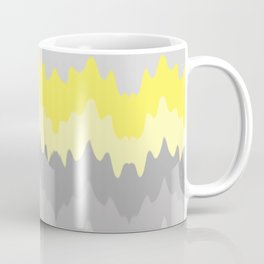 Yellow Grey Gray Ombre Chevron Abstract Zigzag Coffee Mug