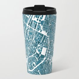 Brussels City Map I Travel Mug