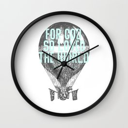 For God So Loved the World John 316 Bible Quotes  Wall Clock