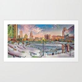 Winter Dreams - Providence, Rhode Island on a Winter's Day landscape Art Print