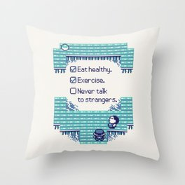 Blue Trainer Tips Throw Pillow