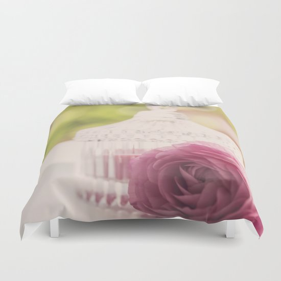 Princess like I Rose flower vintage stilllie Duvet Cover