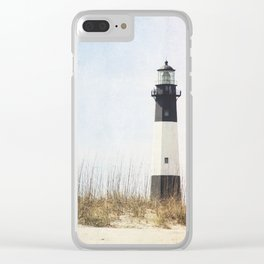 Tybee Lighthouse Clear iPhone Case