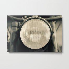 Vintage Motorcycle, Close Up Metal Print