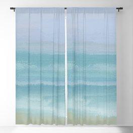 Seashore Small Breakers Blackout Curtain
