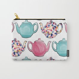 Colourful Teapots Carry-All Pouch