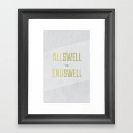 Allswell Framed Art Print