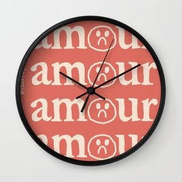 Je t'aime Wall Clock