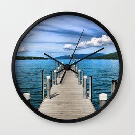 Stepping to the Sea Wall Clock