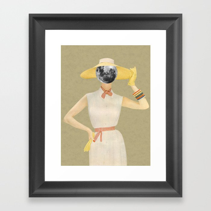 Moon Beauty Framed Art Print