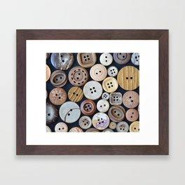 Wooden Buttons Framed Art Print
