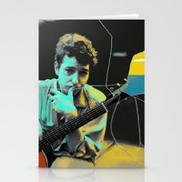bob dylan Stationery Cards featuring Bob Dylan by Zmudartist