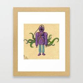 Purple Scuba Diver Framed Art Print