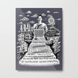 on the road - kerouac  Metal Print