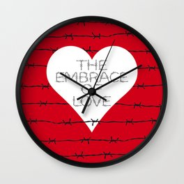 The embrace of love Wall Clock