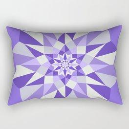 Diamond Purple Mandala Rectangular Pillow