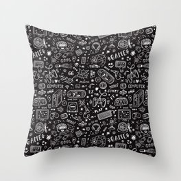 Video Games Pattern | Gaming Console Computer Play Throw Pillow