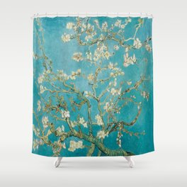 Vincent Van Gogh's Branches of an Almond Tree in Blossom Shower Curtain